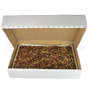 TrayBake Corrugated Box 13x8.5x2.5inches