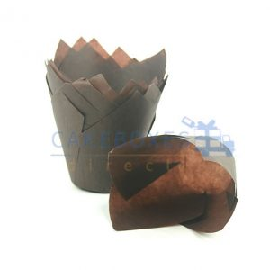 Brown Tulip Muffin Wrap (Qty 2000)