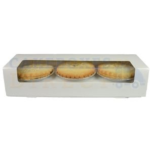 Mince Pie (Unprinted) White Box (100) 9.5 x 3 x 2""