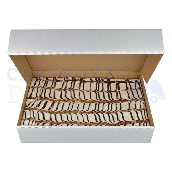 17.25 x 14.75 x 3 inches (corr) XL 20 Muffin Box