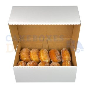 9.75 x 7.5 x 3 inches (White) Corrugated box