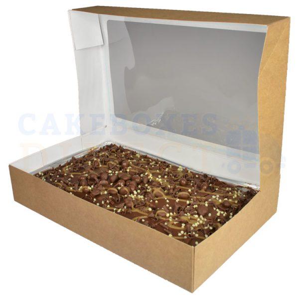 Solid TrayBake Box Open Side 1